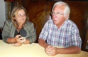 Radio Tonkuhle beim Tanzsportclub - Angelika Dikhoff und Klaus Gothe im Gespraech am 03.08.2016