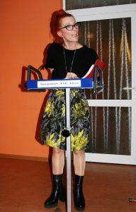 Susanne Kiesel in Aktion bei TSC-Weihnachtsfeier 2018