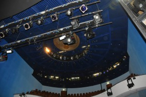 TSC-Besichtigung im Theater in Hildesheim am 23.04.2015 - 450 Scheinwerfer und Spots